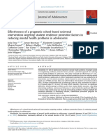 Effectiveness of a Pragmatic School-based Universal