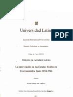 Algunas Intervenciones de Los Estados Unidos de América en América Latina