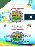 2nd Quarter Certificate