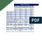 Study Schedule.xlsx