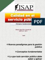 Calidad en el Servicio Público_2011, Alberto Haaz D., ISAP, A.C.