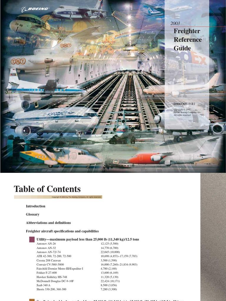 freighter reference guide the boeing company cargo airlines rh scribd com Boeing 777 Backlog Boeing 7X7