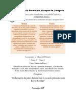 """Proyecto de intervención """"Patio Didáctico"""" en la Esc. Primaria"""
