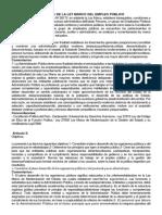 Análisis y Comentarios de La Ley Marco Del Empleo Público