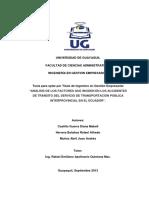 Analisis de Los Factores Que Inciden en Los Accidentes de Tránsito Del Servicio de Transporte Público - Ecuador