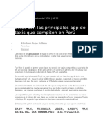 Estas Son Las Principales App de Taxis Que Compiten en Perú-2017