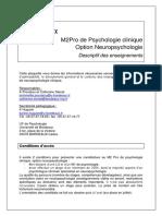 Fruai0332929eprmem Xb Hs05descriptif m2 Pro-neuropsychologie