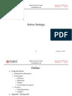 Fluent Solver Settings