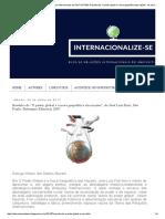 """Internacionalize-se - Resenha de """"O Poder Global e a Nova Geopolítica Das Nações"""", De José Luís Fiori"""