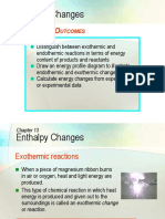 C13 Enthalpy Change