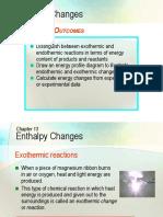 C13 Enthalpy Change