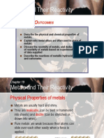 C19 Metals and Their Reactivity
