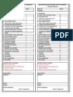 Sample Vehicle Safety Checklist