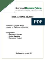 Brief Cafe Altomayo