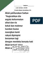 Lagu Bangsa Johor