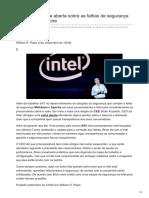 Hardware.com.Br-Intel Divulga Carta Aberta Sobre as Falhas de Segurança Meltdown e Spectre