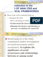 Tools of Analysis and Analytical Frameworks
