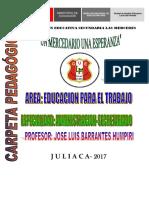 CARPETA PEDAGOGICA - SECRETARIADO