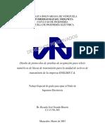 Diseño de Protocolos de Prebas de Aceptacion Para Reles Numericos de Lineas de Transmision Para La Unidad de Activos de Transmision de La Empresa ENELDIS C.a-2003