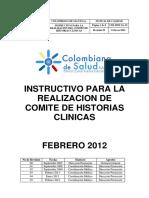 Instructivo Comite de Historias Clinicas