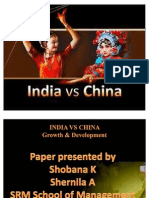 India vs China- Growth n Dev