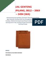 Jual Genteng Karangpilang, 0812 – 3969 – 3494 (WA)