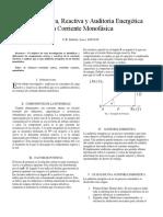 Energía Activa, Reactiva y Auditoria Energética en Corriente Monofásica