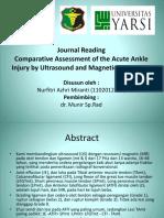 Penilaian Komparatif Cedera Ankle Akut Dengan Ultrasonografi Dan