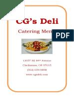 cg catering menu jan 2018