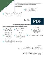 Expresiones Racionales - Multiplicacion Potencias Division Suma Resta