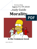 2018 y9 t1 study guide religion morality