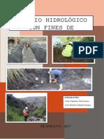 Informe Hidrologico para carreteras
