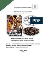 TRABAJO LECTURA Teoría General de Sistemas de Von Bertalanffy