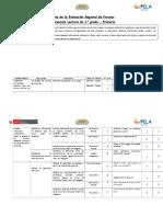 Matriz de Proceso C. Lectura  1° grado