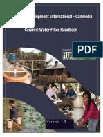 DRAFT RDIC Ceramic Filter Manual 1.3 No Appendices