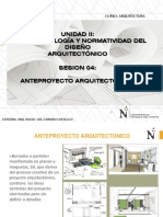 Sesion 4. El Anteproyecto Arquitectonico