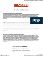 Interview JFR Agefi _ La Crise Favorise La Valeur Fondamentale_19 Fev09