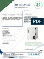 Undercounter -80 Freezer 35 L Leaflet