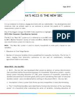 NCCS is the New SEC-Sept 15