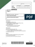 June 2016 QP - Paper 1 Edexcel Economics IGCSE