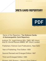 Jugal Kishore's Cardrepertory