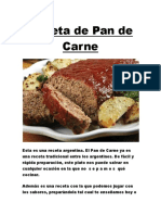 Receta de Pan de Carne