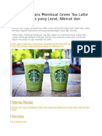 Resep Dan Cara Membuat Green Tea Latte Ala Starbucks Yang Lezat