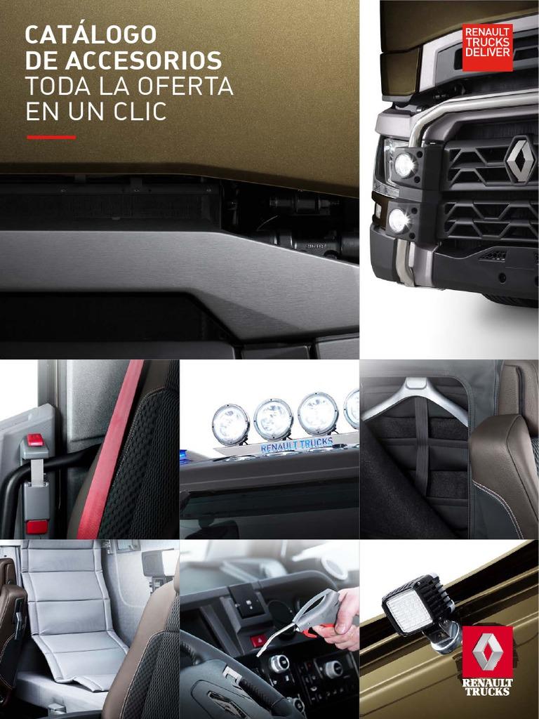 2 Piezas Negro Confort Acolchado Fundas de Asiento para Renault Premium//Magnum