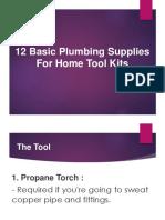 12 Basic Plumbing Supplies for Home Tool Kits