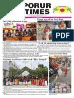 Porurtimes Epaper Published on Jan.14, 2018