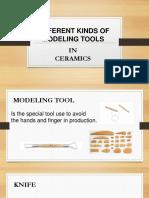 Modeling Tools in Ceramics