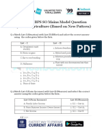 Live Leak - IBPS SO Mains Model Question Paper for Agriculture (Based on New Pattern)