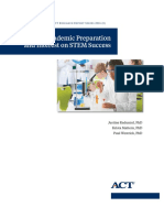 5940 Research Report 2016 8 Role of Academic Preparation and Interest on STEM Success