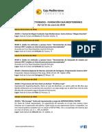 Fundación Caja Mediterráneo. Agenda Actividades Destacadas. Enero 2018